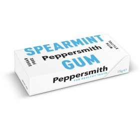 Peppersmith Xylitol Spearmint Gum 12 x 15g