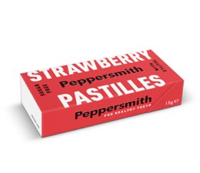 Peppersmith Xylitol Strawberry Pastilles 12 x 15g