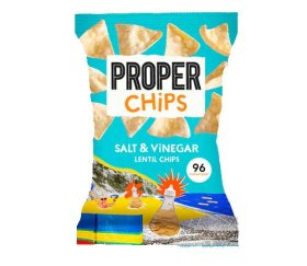 Properchips Sharing Salt & Vinegar Lentil Chips (8 x 85g)