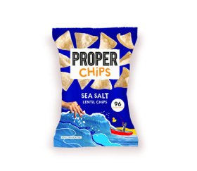 Properchips Sharing Sea Salt Lentil Chips (8 x 85g)