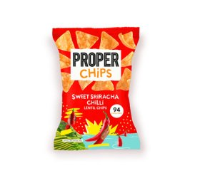 Properchips Sharing Sweet Sriracha Chilli Lentil Chips (8 x 85g)