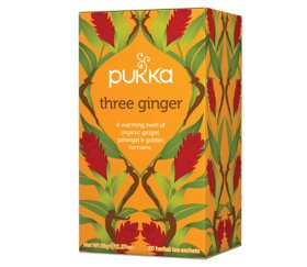 Pukka Herbs Tea Bags - Three Ginger (4 x 20pcs)
