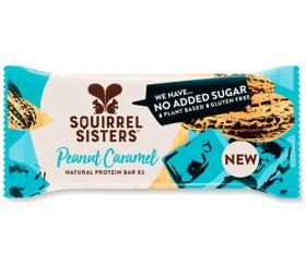 Squirrel Sisters - Peanut Caramel Natural Protein Bar (16 x 40g)