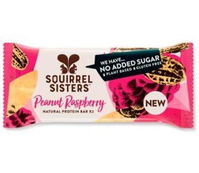 Squirrel Sisters - Peanut Raspberry Natural Protein Bar (16 x 40g)