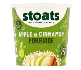 Stoats - Apple & Cinnamon Porridge Pot (16 X 60g)