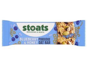 Stoats - Blueberry & Honey Porridge Bar (18 x 50g)