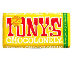 Tony's Chocolonely Milk Chocolate, Almond, Honey & Nougat (15 x 180g)