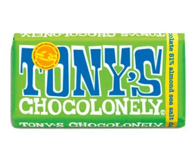 Tony's Chocolonely Dark Chocolate, Almond & Sea Salt (15x 180g)