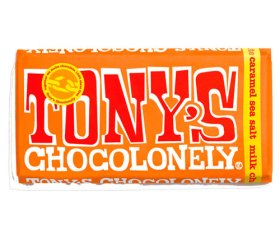 Tony's Chocolonely Milk Chocolate, Caramel & Sea Salt Bar (15x 180g)