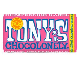 Tony's Chocolonely White Chocolate Raspberry Popping Candy (15x 180g)