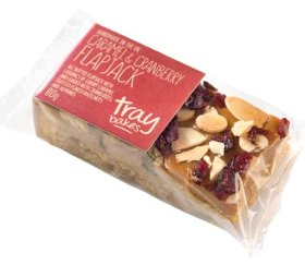 Traybakes - Caramel and Cranberry Flapjack (12 x 80g - Individually Wrapped)