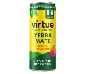 Virtue Yerba Mate - Peach & Raspberry (12 x 250ml Slimline Can)