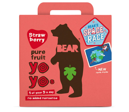 Bear Multi-Pack Strawberry Fruit Yo Yos (6 x 5 x 20g)