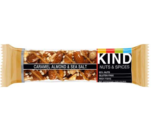 Kind Whole Nut Bars - Caramel, Almond & Sea Salt (12 x 40g)