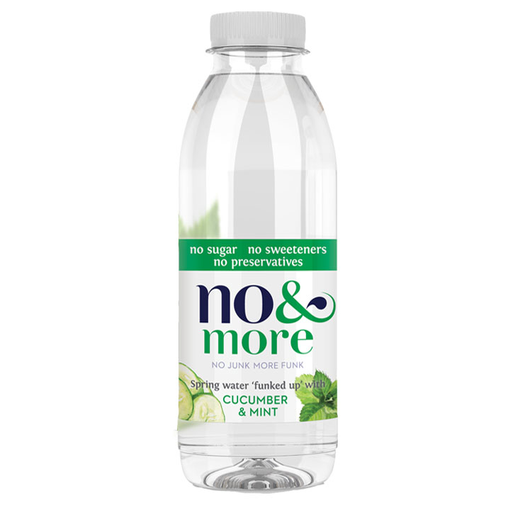 No & More Spring Water with Cucumber & Mint (6 x 500ml)