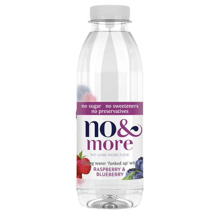 No & More Spring Water with Raspberry & Blueberry (6 x 500ml)