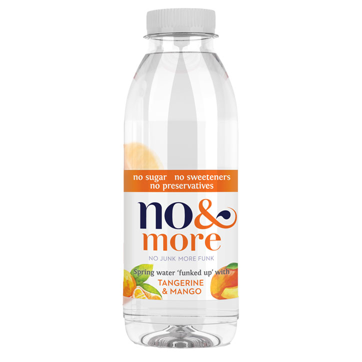 No & More Spring Water with Tangerine & Mango (6 x 500ml)