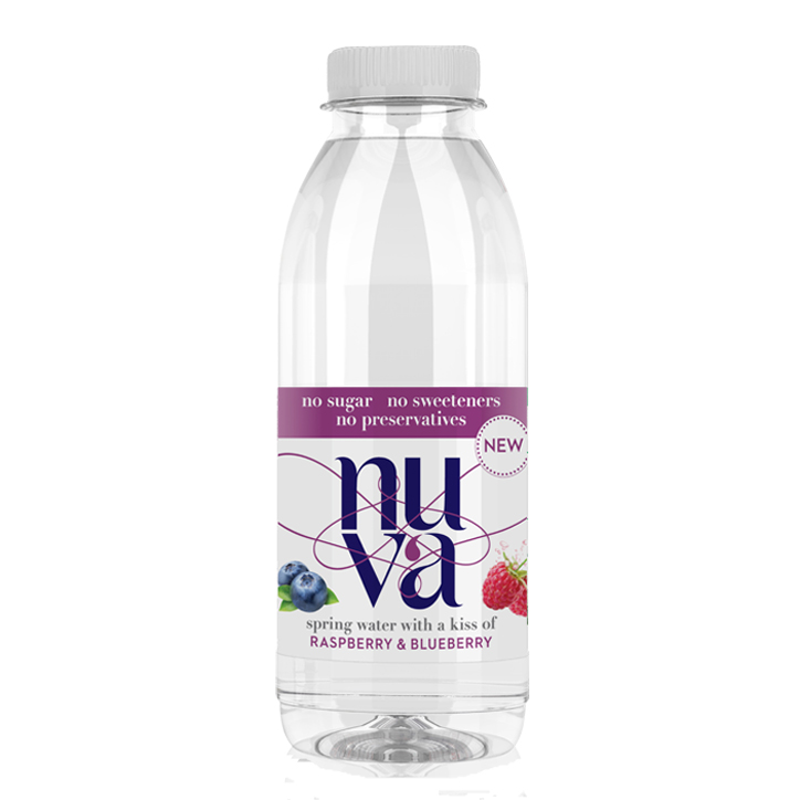 Nuva Raspberry & Blueberry Kissed Spring Water (6 X 500ml)