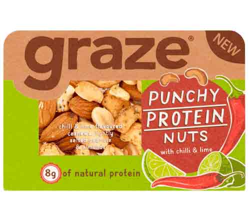 Graze - Punchy Protein Nuts (45g X 9 Trays)